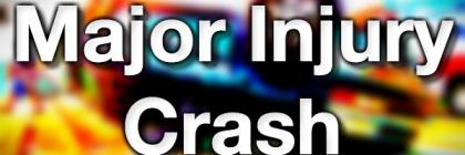 Major injury Crash traffic accident crash