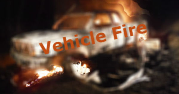 UPDATE 12:24 a m ] Vehicle on Fire After Crash on Old Arcata Road