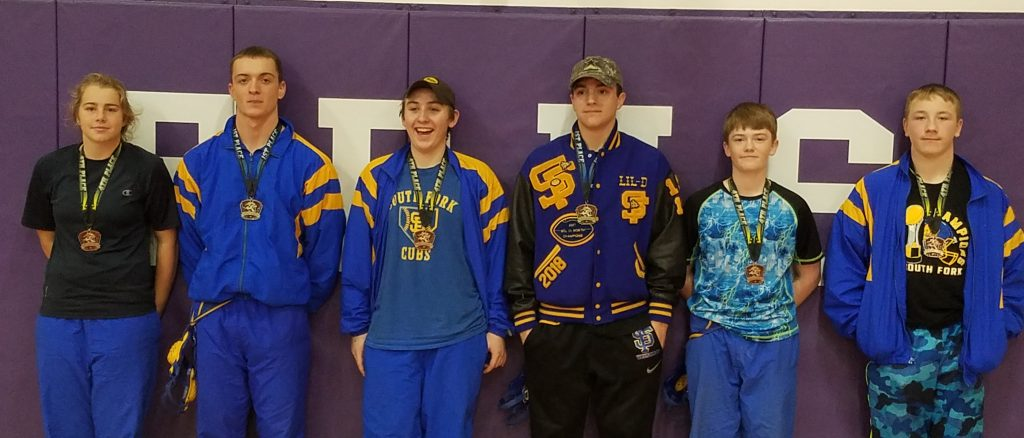 Left to right Daphne Hobbs 4th, Aaron Etherton 1st, Orin Paula 4th, Levi Kirk 1st, Kaydon Pogue 4th, John Gamble 4th
