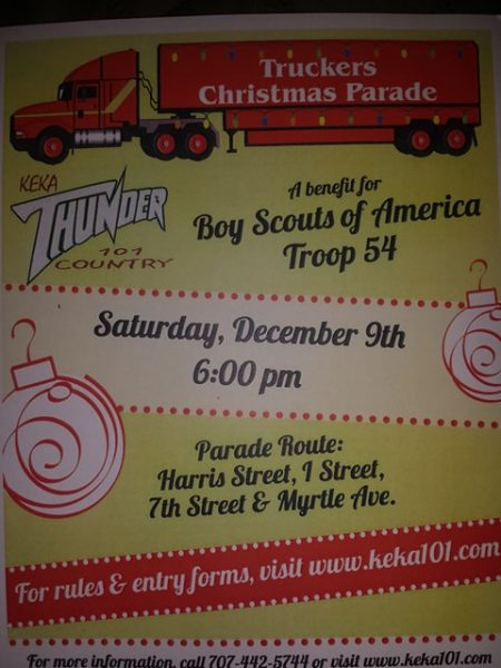 poster for Eureka Lighted parade cropped
