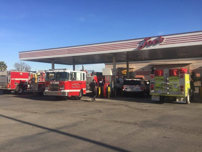Humboldt County Firefighters filling their vehicles before heading to the devastating Southern California Fires.