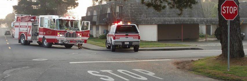 Arcata Fire at an apartment building