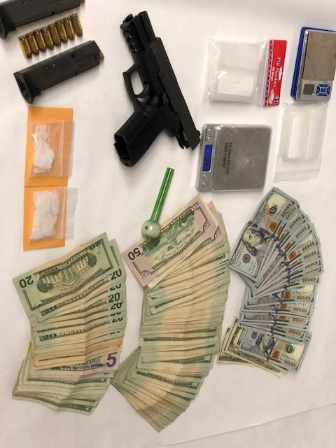 money and firearms and drugs