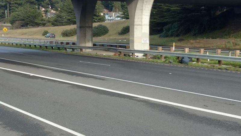 bent guardrail