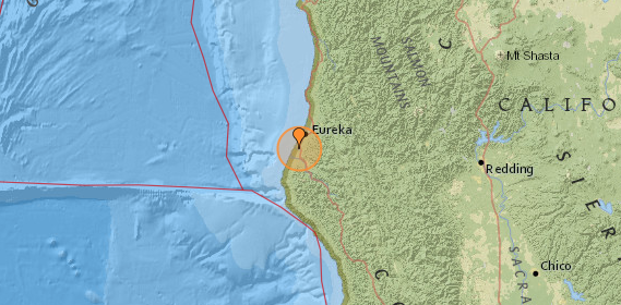 Earthquake at Humboldt Hill