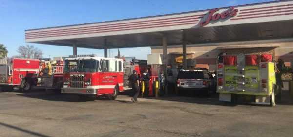 Humboldt Firefighers to the rescue gas station