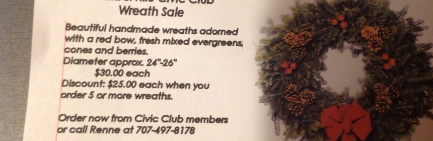 Christmas Wreath sale flyer
