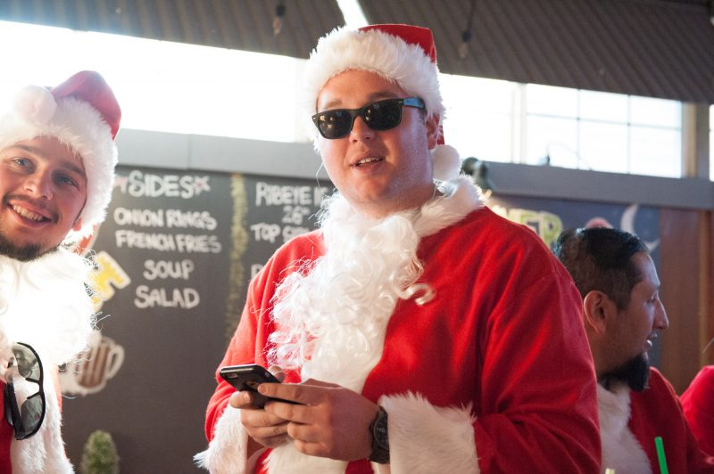Kenny Carswell saw a Facebook event for the Eureka SantaCon and decided to attend.