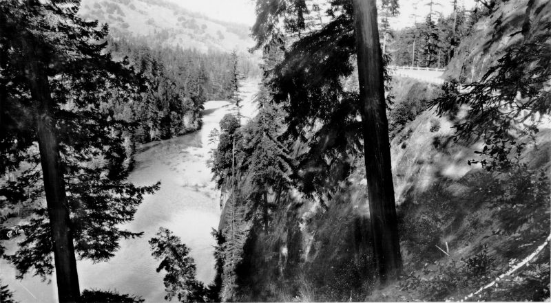 """Eel River, From the Redwood Highway"""