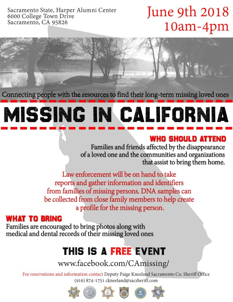 Missing in California poster