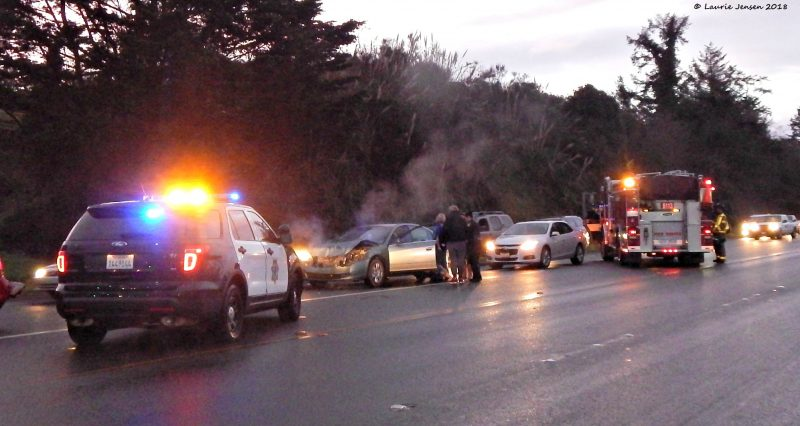Traffic Accident on Broadway in Eureka Slows Morning Commute