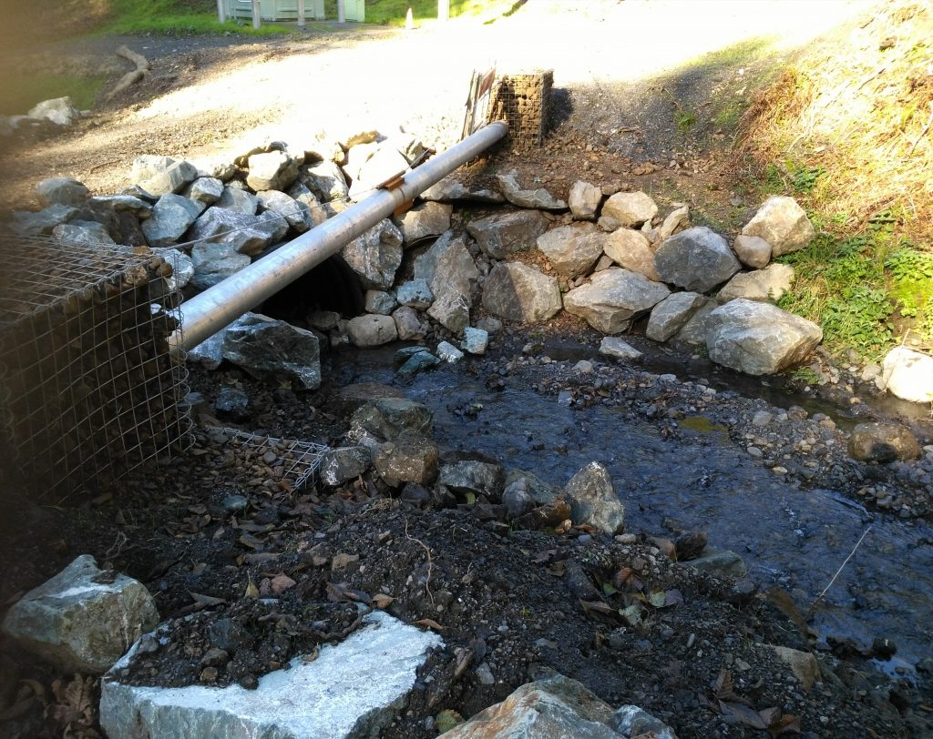 RID culvert in Shelter Cove