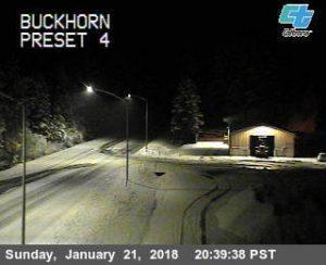 Caltrans traffic cam buckhorn snow
