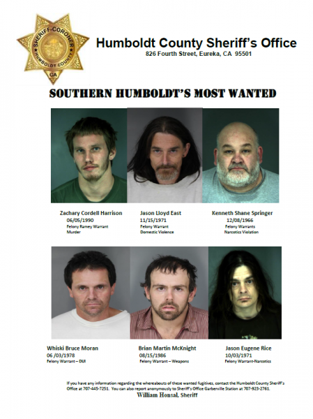 Southern Humboldts Most WantedSouthern Humboldts Most Wanted