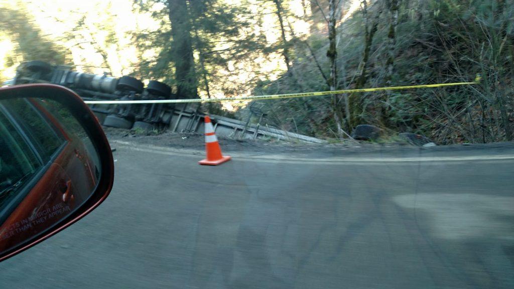 Big rig off the road