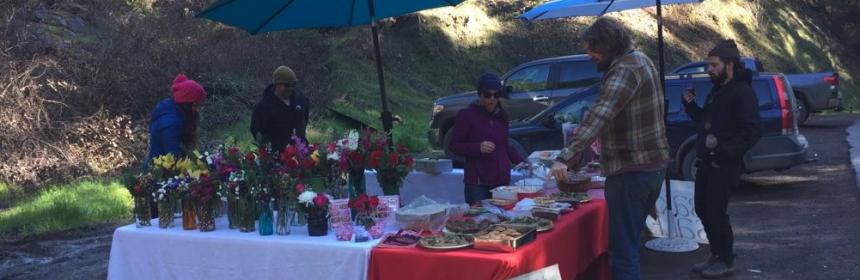 Salmon Creek School bake sale on Valentine's Day.