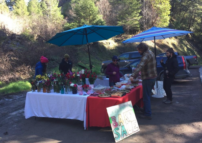 Salmon Creek School bake sale on Valentine's Day.