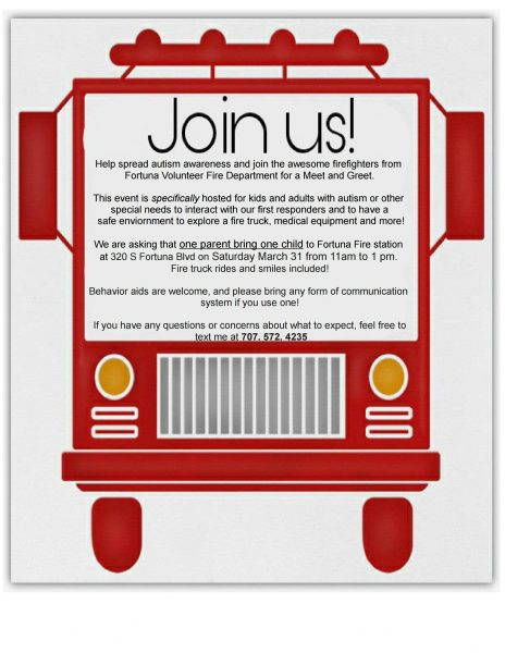 Fortuna Volunteer Fire Department Invites You To Help