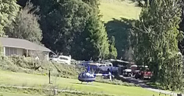 Helicopter on Benbow Golf course.