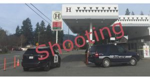 Police at Hoopa mini mart