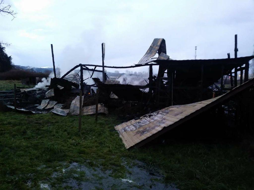 Barn burned in Fortuna