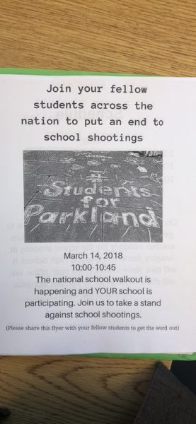 South High School flyer  for protest.