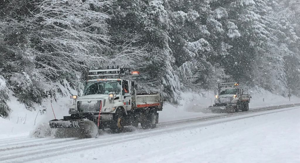 Caltrans snow plows