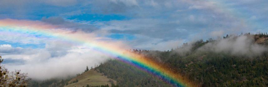 Double rainbow feature