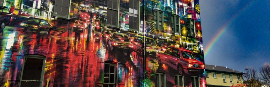 Rainbow on Opera Alley Mural