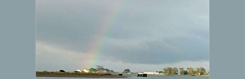 Rainbow at the Humboldt Bay Coast Guard station.