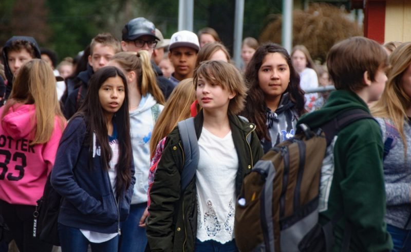 Teens walk out in gun violence protest