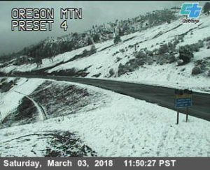 Oregon mt. Caltrans traffic cam