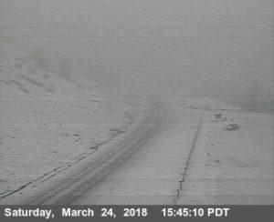 Snow on Berry Summit at Vista Point.