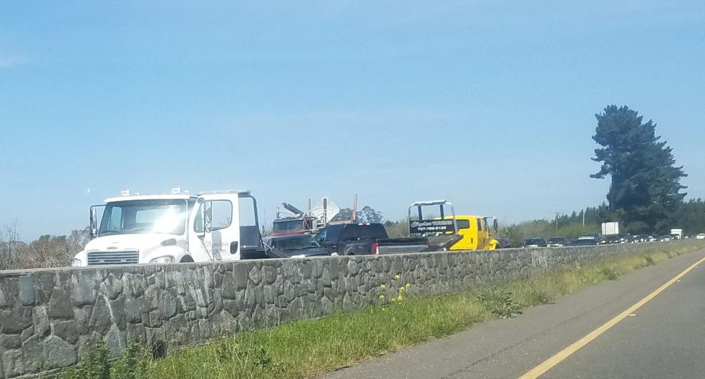 Accident backs up traffic