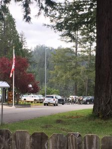 Convoy gathering at Cal Fire station above Garberville