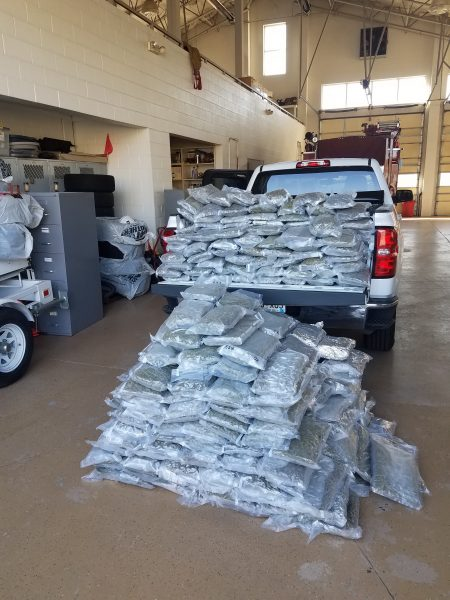 356 pounds of marijuana seized by the Utah Department of Public Safety.v