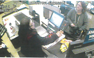 Still from video of Jen Hart at the Safeway