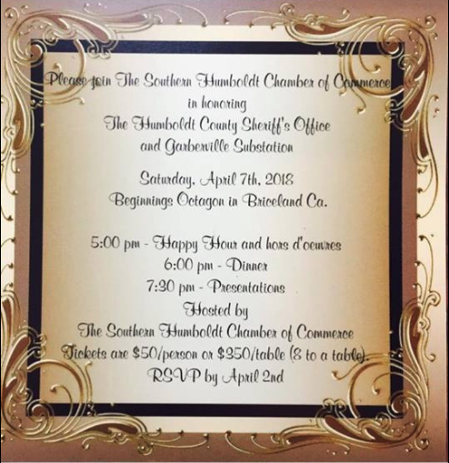 Invitation to honor Sheriff's Dept