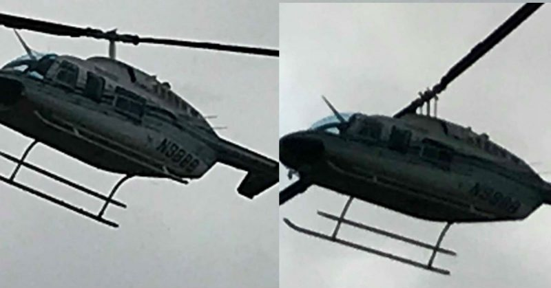 Two helicopter photos