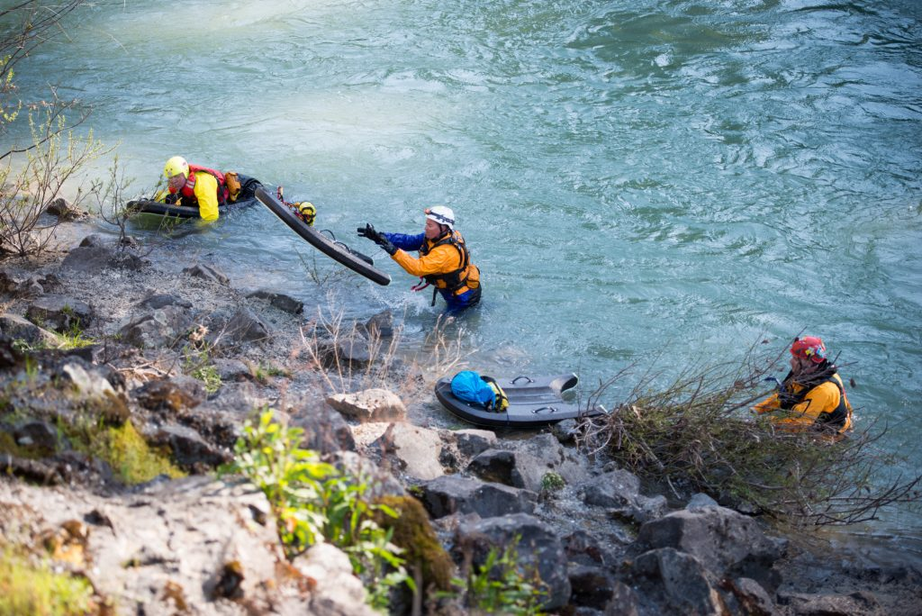 Search crews exit the Eel River just south of Benbow Thottapilly
