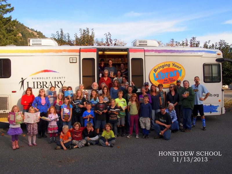 A 2013 school visit to the bookmobile in Honeydew.