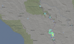 Light map from 2013 for Southern Humboldt.