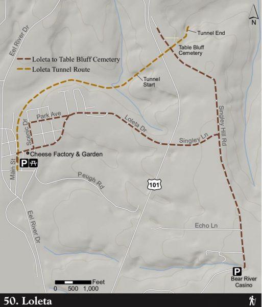 Loleta tunnel map