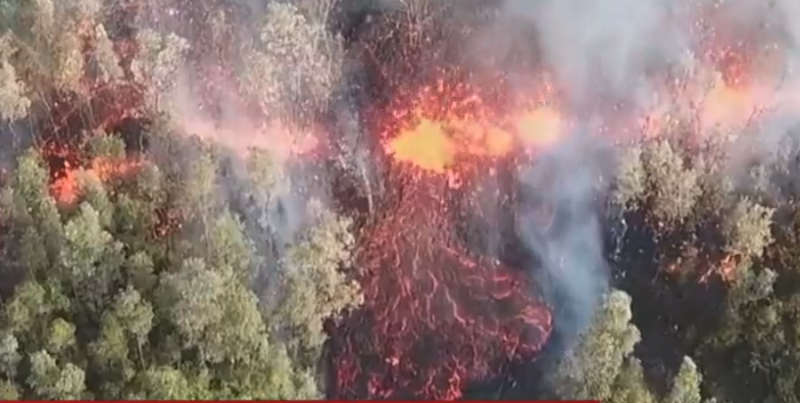 video of the eruption as posted on Hawaii News Now.