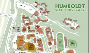 HSU map Humboldt State University map