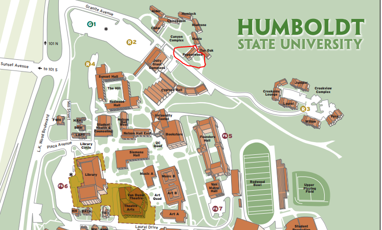Humboldt State Map HSU Police Served Search Warrant on Residence Associated With  Humboldt State Map