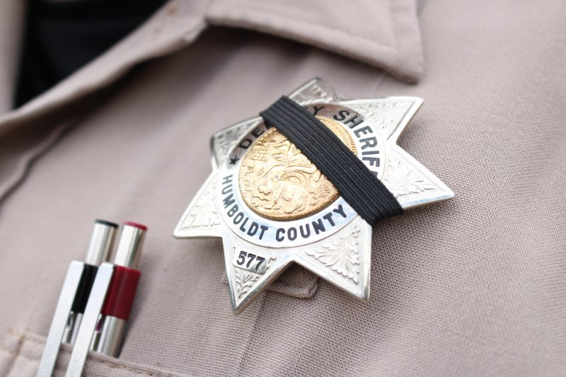 Sheriff's Badge black band