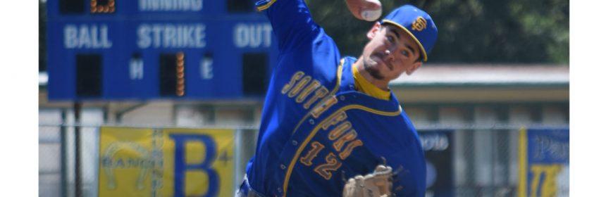Scott Coffelt pitching