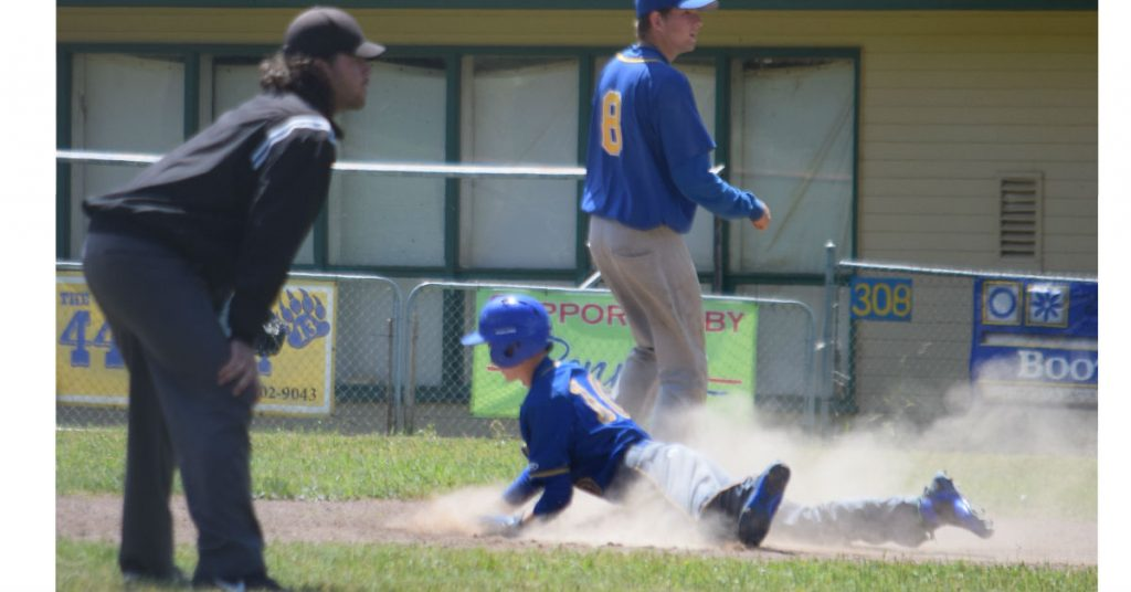 Sophomore Ayden Bignon slides into a stolen second base