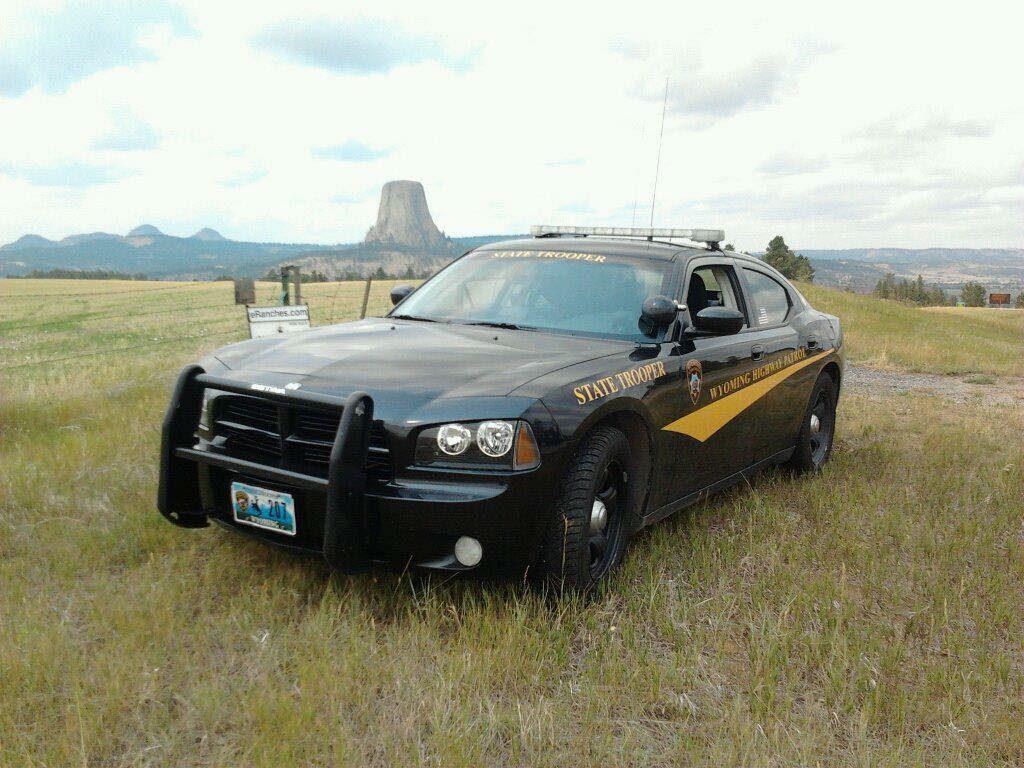 Wyoming state trooper vehicle